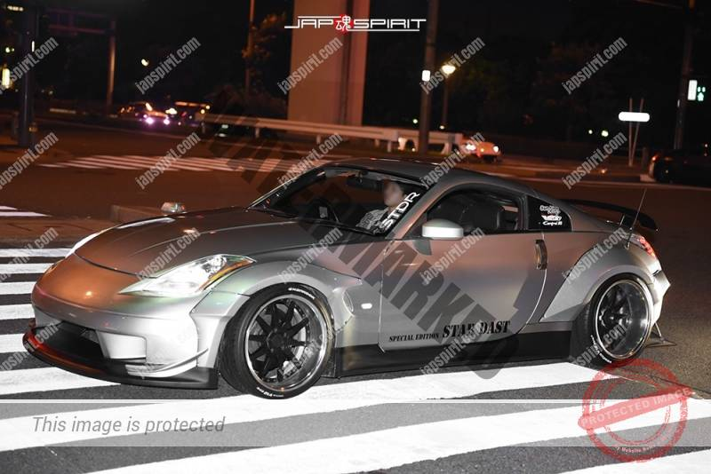 Photo of Stancenation 2016 Nissan fairlady Z33 Star dust fender kit attached silver body low style