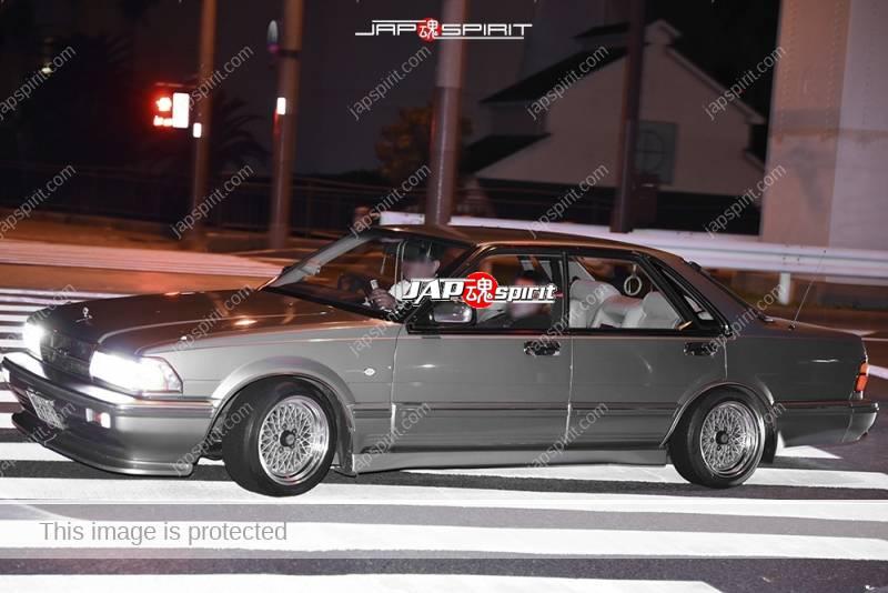 Photo of Stancenation 2016 Nissan gloria Y31 Yansha style silver body wire wheel at Odaiba