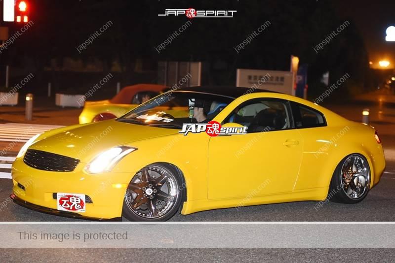 Photo of Stancenation 2016 Nissan skyline V35 yellow color hellaflush at odaiba