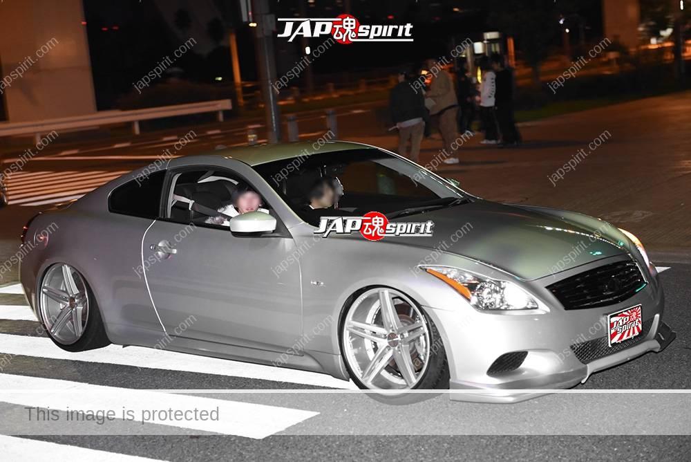 Photo of Stancenation 2016 Nissan skyline V36 coupe silver body hellaflush at odaiba