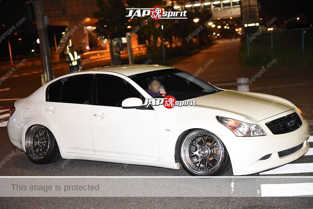 Photo of Stancenation 2016 Nissan skyline secan V36 hellaflush white boy at odaiba