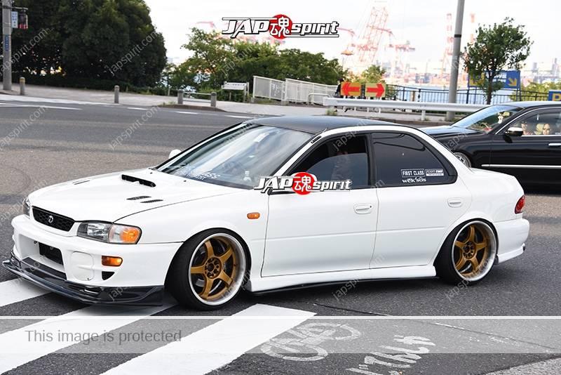 Photo of Stancenation 2016 Subaru Impreza 1st hashiriya hellaflush tsuraichi white body gold wheel