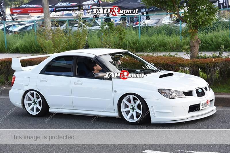 Photo of Stancenation 2016 Subaru Impreza 2nd takame hellaflush white body & wheel at odaiba