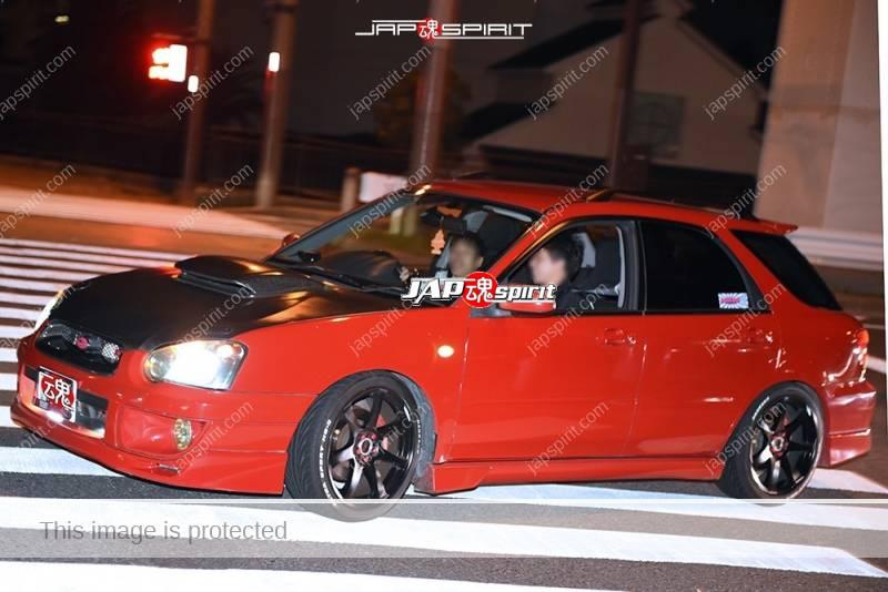 Photo of Stancenation 2016 Subaru Impreza WRX Wagon Red color at Odaiba