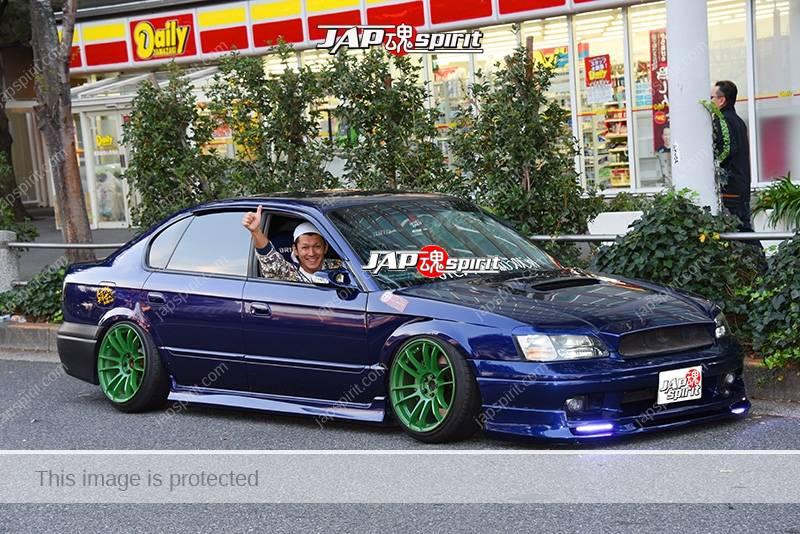 Photo of Stancenation 2016 Subaru Legacy 3rd sedan hellaflush blue body n-style custom