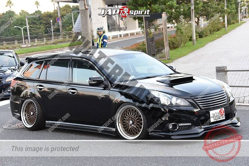 Photo of Stancenation 2016 Subaru Legacy 5th touring wagon hellaflush black body at odaiba