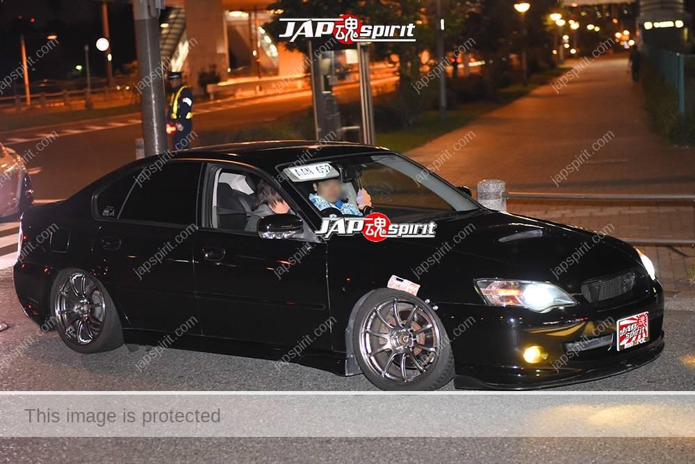 Photo of Stancenation 2016 Subaru Legacy Liberty sedan hellaflush black body at odaiba