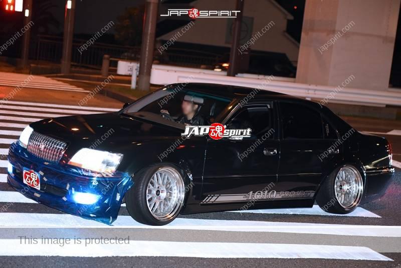 Photo of Stancenation 2016 TOYOTA Crown Majesta s17 VIP hellaflush Honda toso style black body at Odaiba