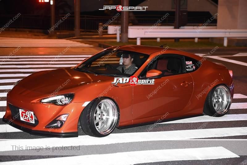 Photo of Stancenation 2016 TOYOTA GT86 orange hellaflush style at Odaiba