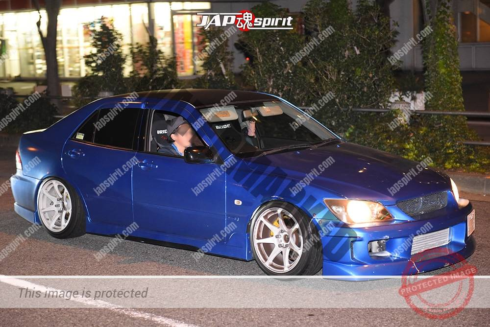 Photo of Stancenation 2016 Toyota Alteza E10 hellaflush blue bldy white wheel at odaiba