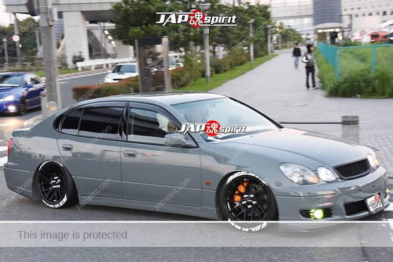 Stancenation 2016 Toyota Aristo JZS16 hellaflush VIP style tsuraichi gray body at odaiba 1