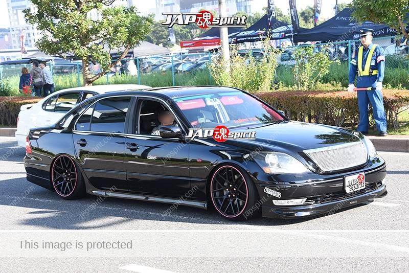 Photo of Stancenation 2016 Toyota Celsior F30 VIP hellaflush tsuraichi black body at odaiba