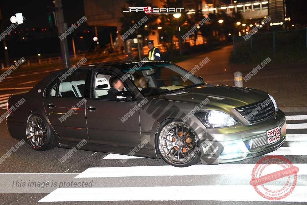 Photo of Stancenation 2016 Toyota Celsior UCF3 VIP style Grey body at odaiba