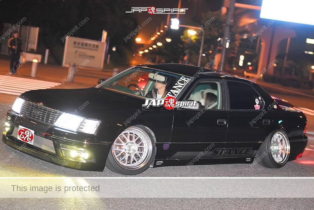 Photo of Stancenation 2016 Toyota Cerlsior UCF1 VIP hellaflush blackcmber  at Odaiba