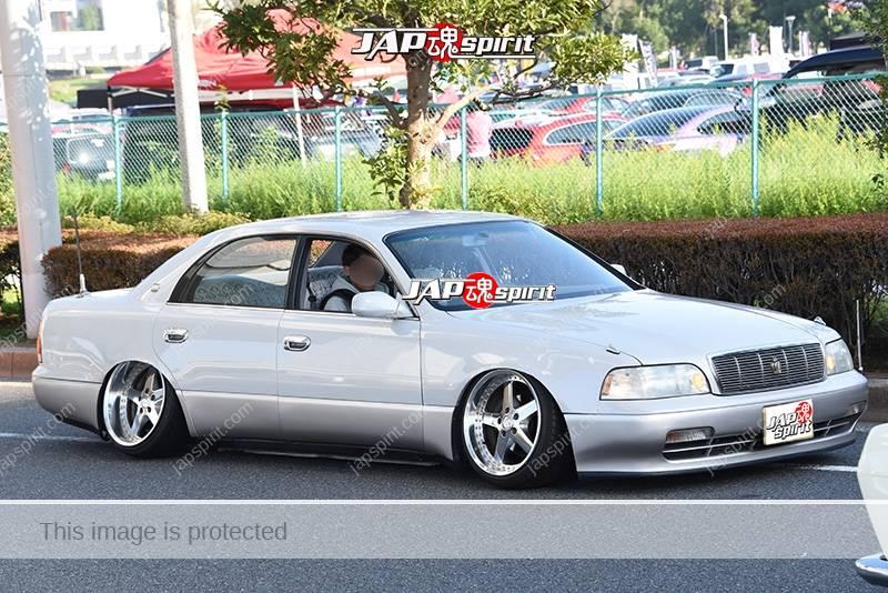 Photo of Stancenation 2016 Toyota Crown Majesta S140 very low VIP hellaflush tsuraichi white body