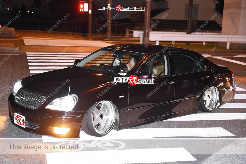 Photo of Stancenation 2016 Toyota Crown Majesta S18 VIP hellaflush style black at odaiba