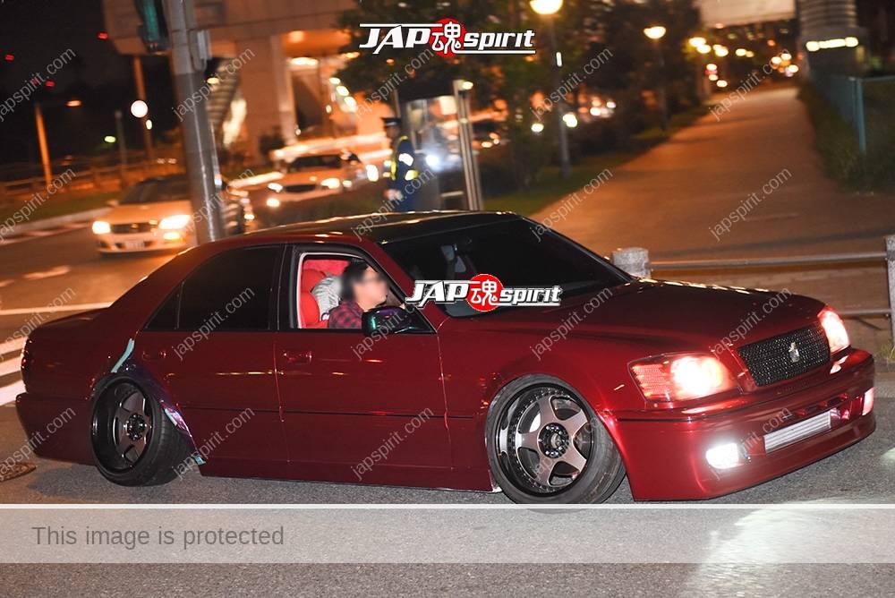 Photo of Stancenation 2016 Toyota Crown S15 VIP hellaflush darkred body at odaiba
