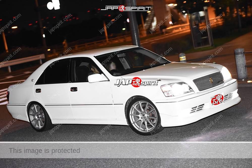 Photo of Stancenation 2016 Toyota Crown S17 white body at odaiba