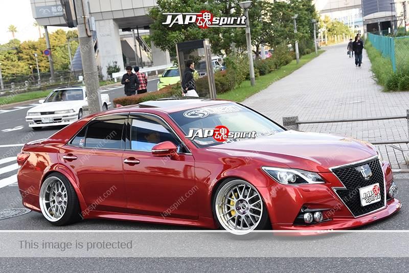Photo of Stancenation 2016 Toyota Crown S21 hellaflush VIP style red body garage dream