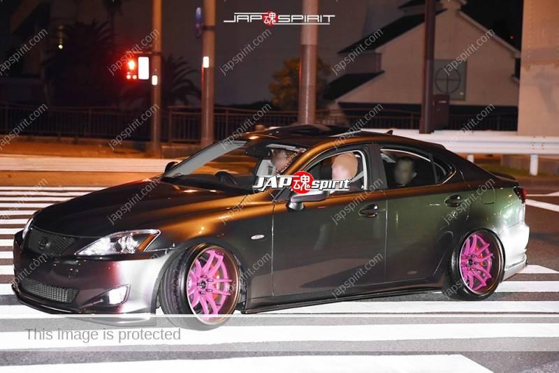 Photo of Stancenation 2016 Toyota Lexus IS Hellaflush style pink wheel at Odaiba