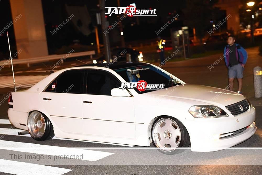 Photo of Stancenation 2016 Toyota Mark II 110 hellaflush white body at odaiba