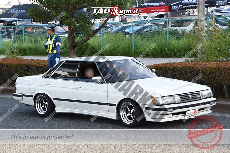Photo of Stancenation 2016 Toyota Mark II x71 kyusha white body at odaiba
