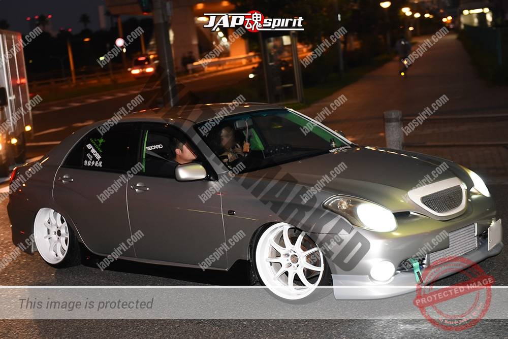Photo of Stancenation 2016 Toyota Verossa hellaflush dorift car style silver body white wheel