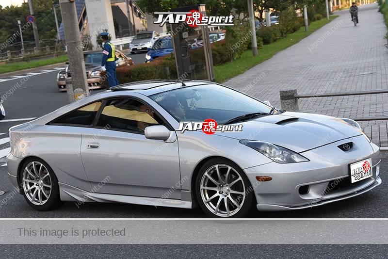 Stancenation 2016 Toyota celica T230 silver body at odaiba 1