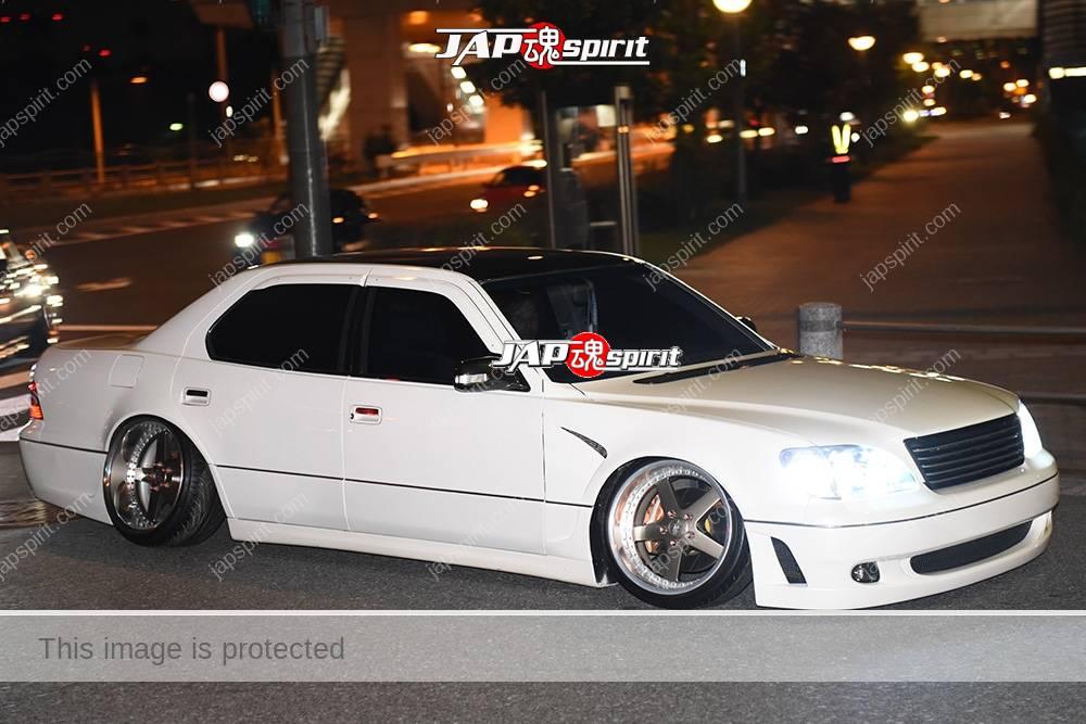 Photo of Stancenation 2016 Toyota celsior UCF2 hellaflush VIP white body at odaiba