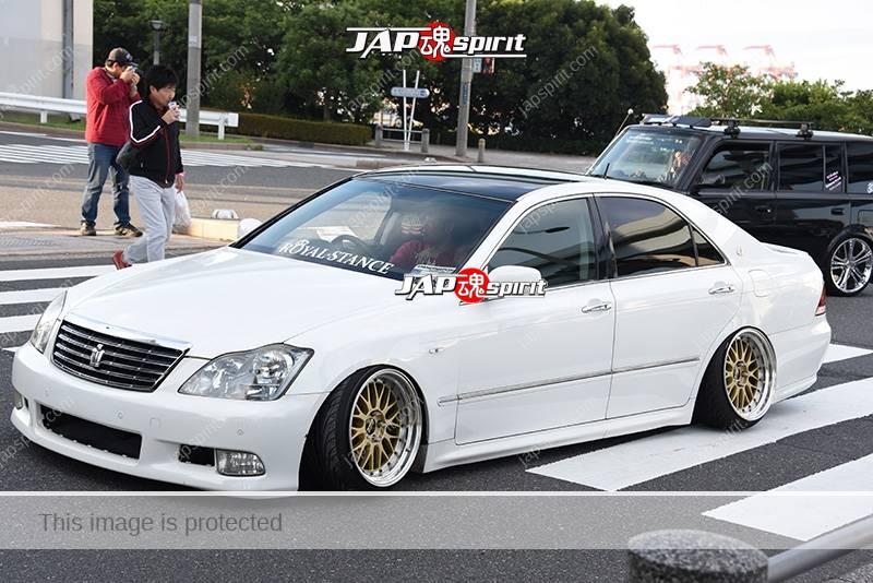 Photo of Stancenation 2016 Toyota crown S18 VIP hellaflush tsuraichi white body Royal stance