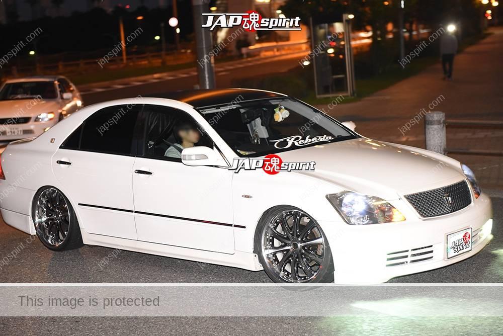 Stancenation 2016 Toyota crown S18 VIP style white body team 1
