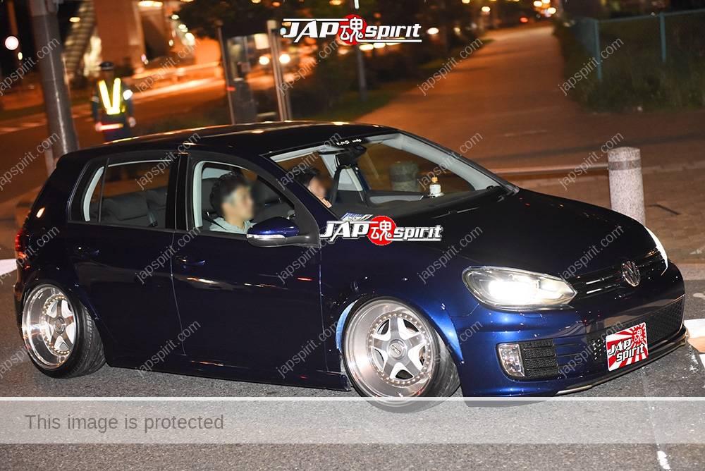 Photo of Stancenation 2016 VW Golf VI hellaflush blue body at odaiba