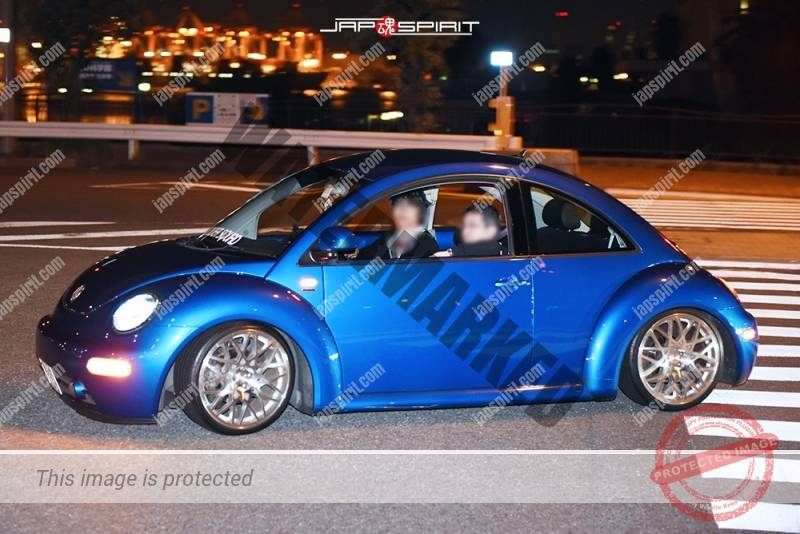 Photo of Stancenation 2016 VW New Beetle blue hellaflush at odaiba