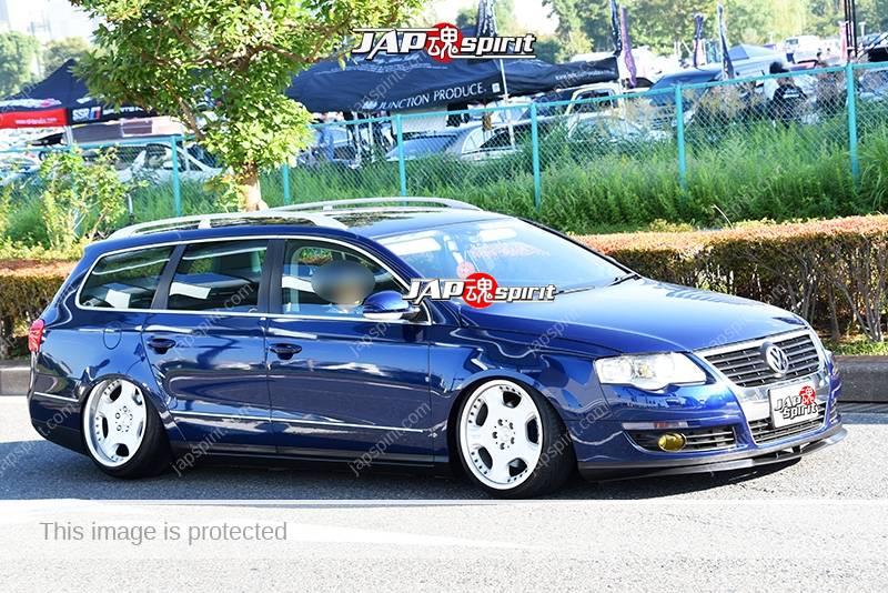 Photo of Stancenation 2016 VW Passat wagon hellaflush tsurauchi blue body at odaiba