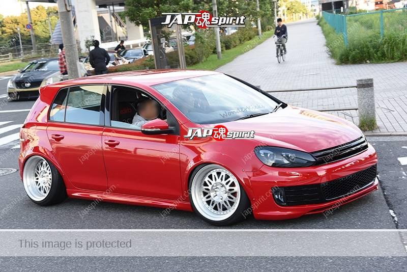 Photo of Stancenation 2016 VW Scirocco hellaflush tsuraichi red body at odaiba