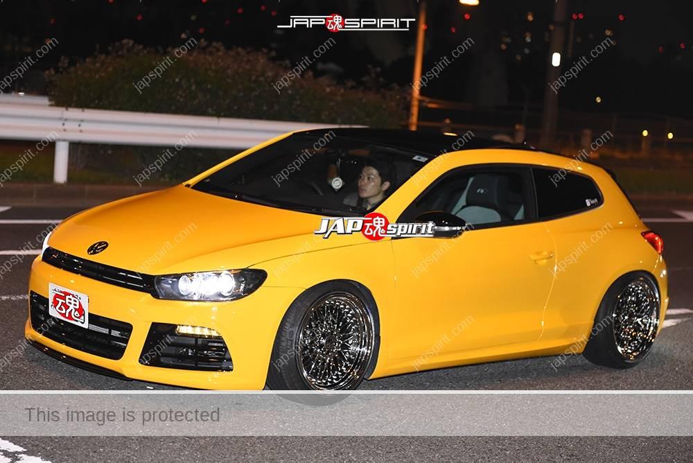 Photo of Stancenation 2016 VW Scirocco hellaflush yellow color at odaiba