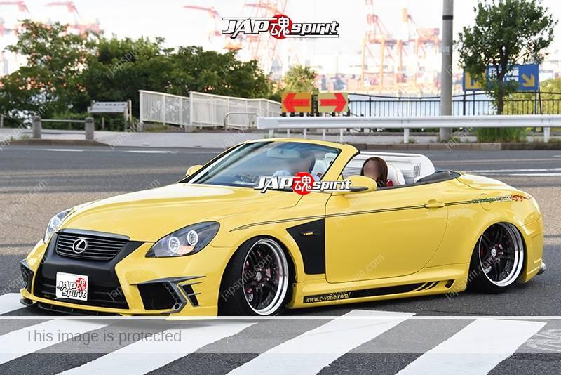Photo of Stancenation 2016 lexus sc 430 convertible hellaflush tsurauchi yellow body at odaiba