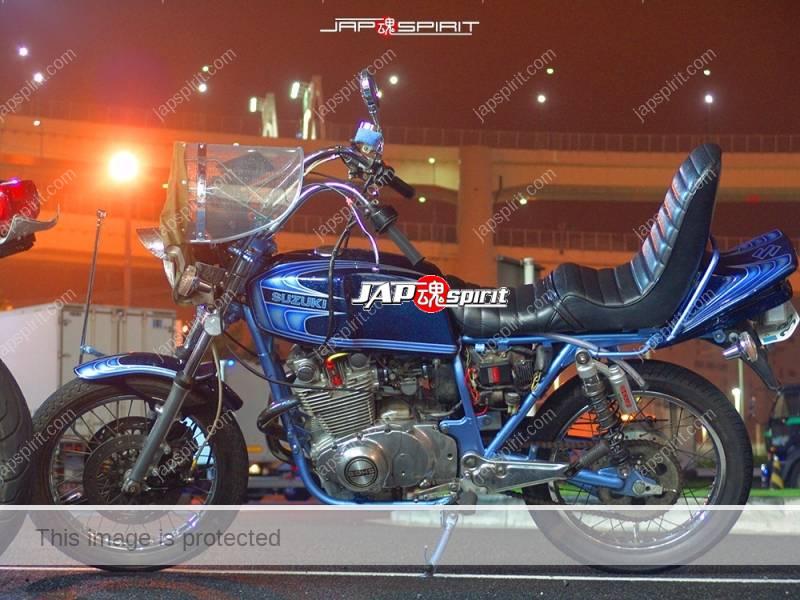 Suzuki GSX400E zari kyushakai style metalic blue shibori handle sandan sheet 1