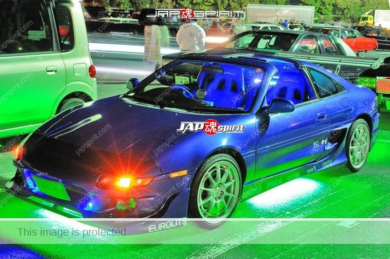 TOYOTA MR2 Spokon style blue color lighting at Moriya PA (2)