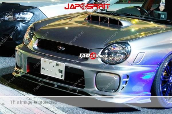 SUBARU Impreza 2nd, Hashiriya style, air duct on the bonnet, silver color (1)