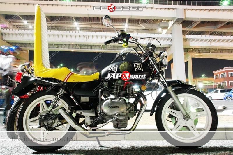 HONDA CB400N hawk Kyushakai long sandan sheet shibori handle Ⅱ殉国 & Imperial chrysanthemum emblem 1