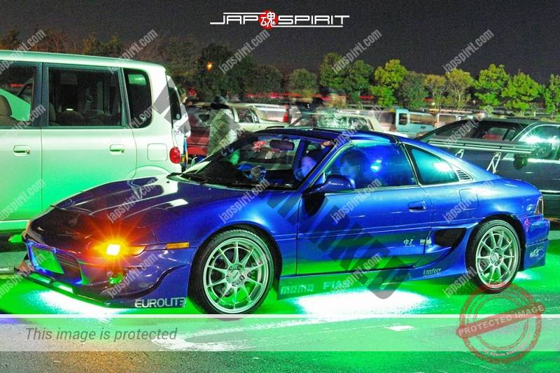 Photo of TOYOTA MR2 Spokon style blue color lighting at Moriya PA