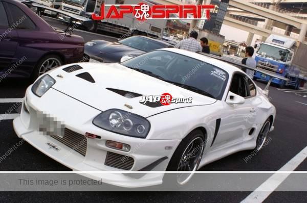 Hashiriya style TOYOTA Supra Mark 4th A80, GT wing, white color (5)