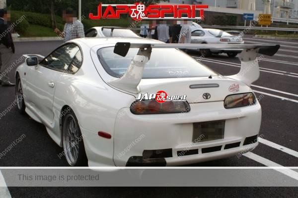 Hashiriya style TOYOTA Supra Mark 4th A80, GT wing, white color (4)