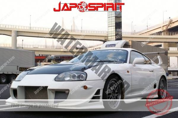 Hashiriya style TOYOTA Supra Mark 4th A80, GT wing, white color (8)