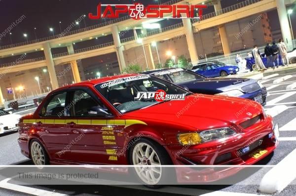 Photo of HONDA, Accord, Spokon style, red color & White wheel