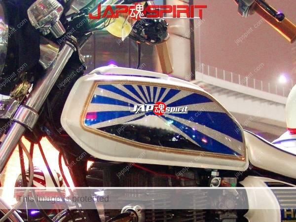 HONDA CB400T (HAWK II), Zokusha style, Mt.Fuji & Rising blue Sun Flag design pic on tank. (2)