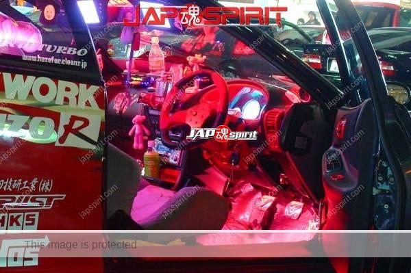 HONDA Integra 3rd DC, red lighting, mysterious interior, agressive vinylgraphic, red & black color (4)