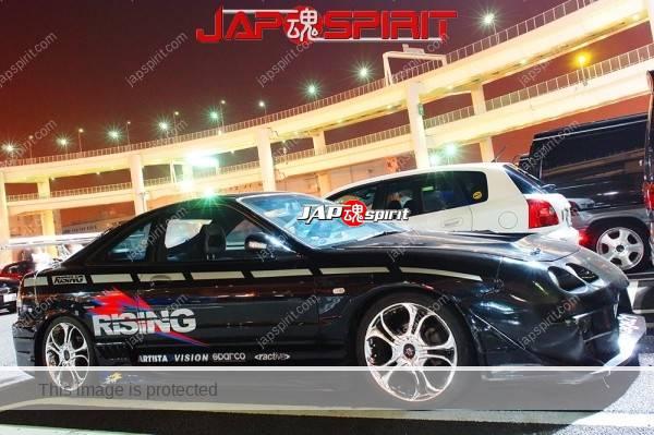 Honda Integra 3rd, Stylish Spokon style, GT-wing, plating wheel, vinylgraphic (1)