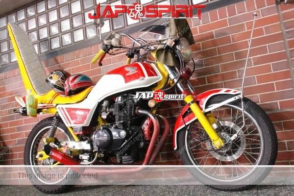 Honda SUPER HAWK R, Zokusha style, Long Sandan sheet, Mongolian hood, White & red color (1)